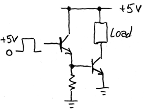 high-current BJT switch