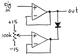 op-amp clamp circuit