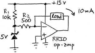 op-amp current source - 1