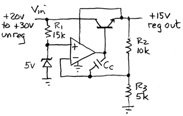 positive +15V regulator
