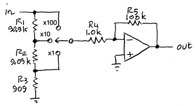 selectable-gain dc amplifier