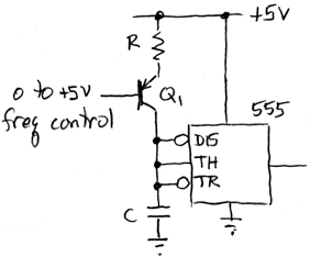 voltage-controlled 555 oscillator
