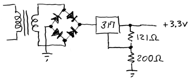 +3.3V regulator using a 317