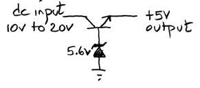 simplest 5V series regulator
