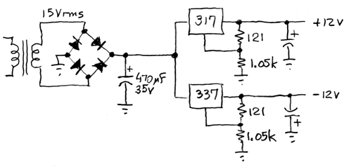 simple ±12V supply